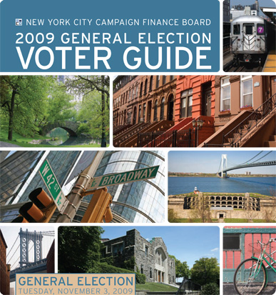 2009 Primary Election Voter Guide cover